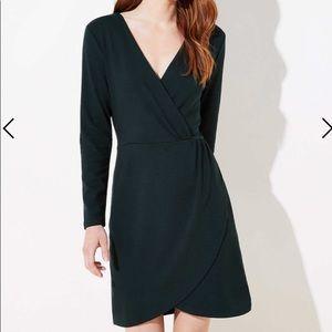 Loft shirred wrap dress